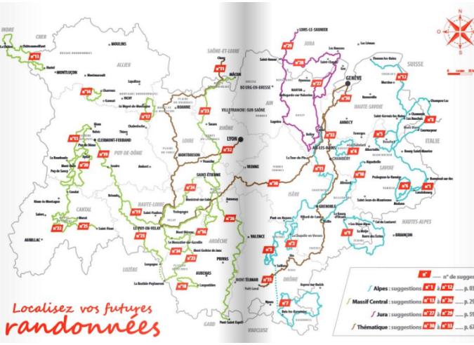 Des idées rando d'itinérances en Auvergne-Rhône-Alpes