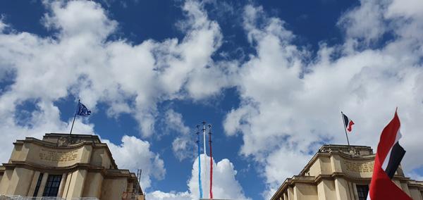 Cérémonie de passation du drapeau olympique Paris
