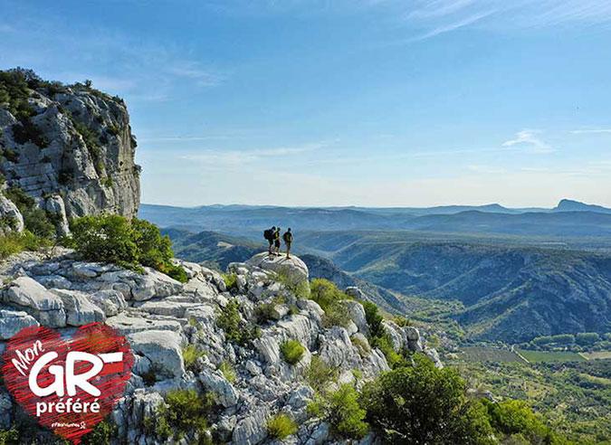 Le GR® de Pays Grand Pic Saint-Loup dans l'Hérault élu GR® préféré des Français 2021