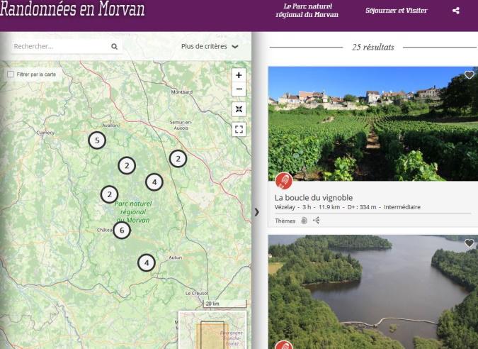 Un site internet dédié aux randonnées en Morvan