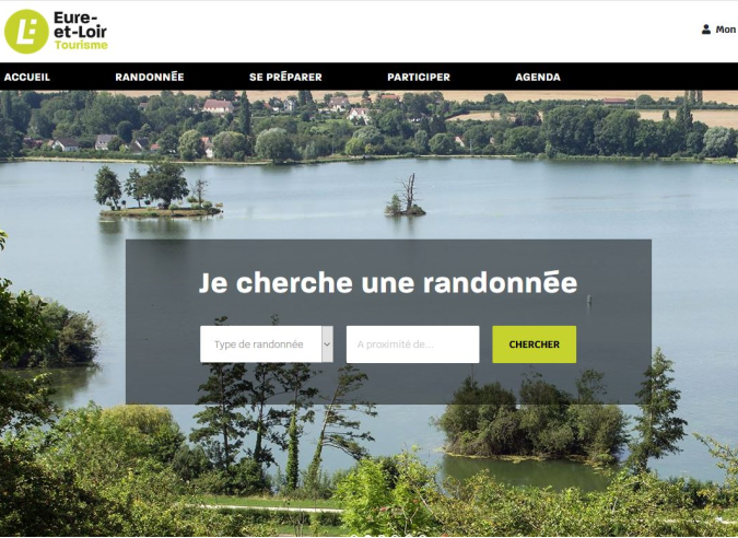 Un site dédié à la randonnée en Eure-et-Loir