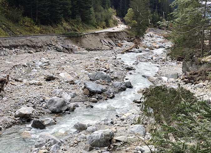 Soutien aux GR® des Alpes-maritimes victimes de la tempête Alex