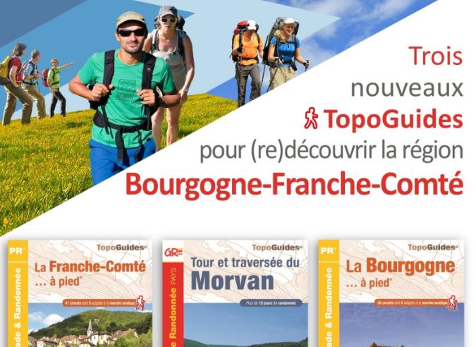 Opération promotion des topoguides de Bourgogne Franche-Comté