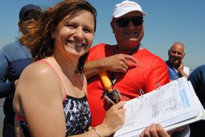 Roxana Maracineanu fait du Longe-côte