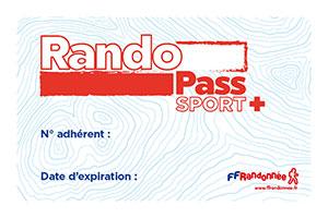 Carte RandoPass sport+ FFRandonnée