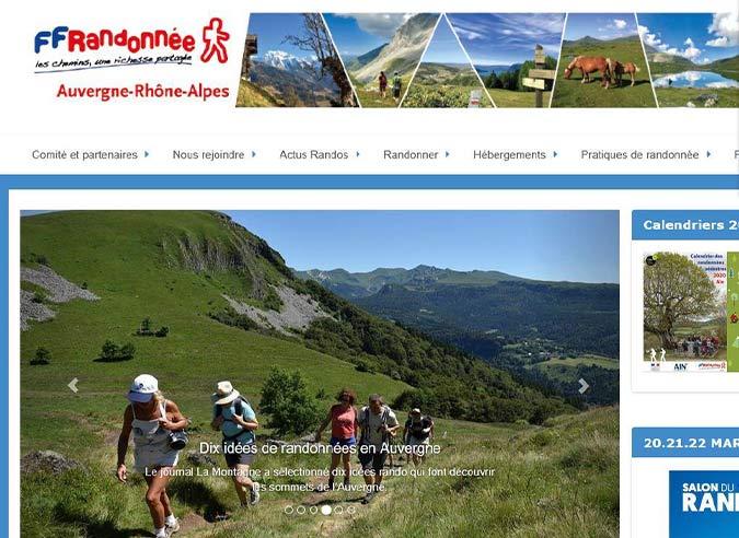 Calendrier Randonnée Rhone 2021 Un nouveau site pour la randonnée en Auvergne Rhône Alpes